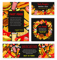 fast food templates restaurant banner vector image vector image