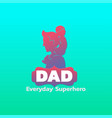 fathers day logo vector image