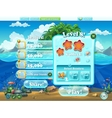 fish world - window level complete for computer vector image vector image