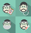 Flat Design Doctor Icon With Long Shadow Effect vector image vector image
