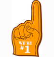 Foam Finger vector image