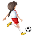 Girl Soccer Player vector image vector image