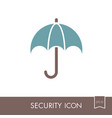 insurance icon umbrella sign vector image