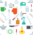 Kitchen items pattern stickers vector image vector image