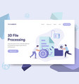 landing page template of 3d file document vector image vector image