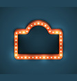 light bulb frame marquee vector image vector image