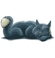 lying cat vector image vector image