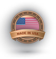 made in usa badge vector image