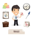 Male Manager Icons Set vector image vector image