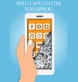 mobile app development services concept vector image