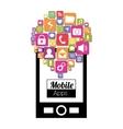 Mobile applications shop entertainment vector image vector image