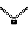 padlock and metal chain vector image vector image