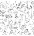 pattern of the playfull children vector image