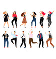 people on corporate party set vector image vector image