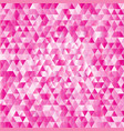 pink abstract triangles background vector image vector image