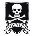 pirates emblem vector image vector image