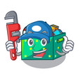 plumber children toy boxes isolated on mascot vector image