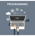 Programming and coding vector image vector image