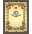 royal christmas invitation vector image vector image