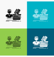 salary shopping basket shopping female icon over vector image vector image