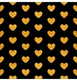 seamless pattern golden hearts vector image