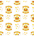 seamless pattern with funny duck faces vector image vector image