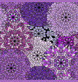 seamless violet exotic medieval pattern vector image vector image