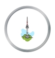 Seoul tower icon in cartoon style isolated on vector image