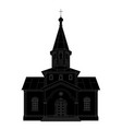 silhouette church vector image