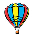 sketch of a color balloon vector image