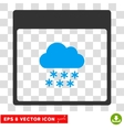 Snow Cloud Calendar Page Eps Icon vector image vector image