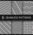 striped geometric seamless patterns set vector image vector image