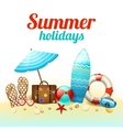 Summer holidays background poster vector image vector image