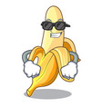 super cool character banana in the fruit market vector image vector image