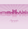tegucigalpa skyline in purple radiant orchid vector image vector image
