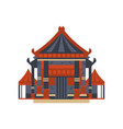 traditional asian pagoda building vector image vector image