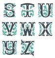 vintage alphabet Part 3 vector image vector image