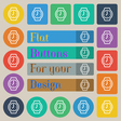 watches icon sign Set of twenty colored flat round vector image vector image