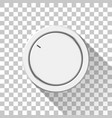 white technology volume knob vector image vector image