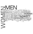 why men lie and women cry text word cloud concept vector image vector image