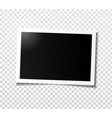 wide horizontal photo frame with shadow vector image