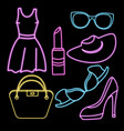 women clothing shoes underwear and accessories vector image vector image
