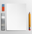 White sheet Stock vector image