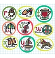 Cute colorful cartoon alphabet from R to Z vector image