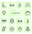 14 glamour icons vector image vector image