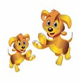3D cartoon dog clipart vector image vector image