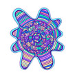 abstract colorful mandala with circle pattern vector image vector image