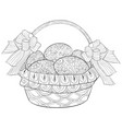 adult coloring bookpage the easter eggs in a vector image