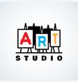 art studio logo vector image