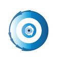 artistic greek blue evil eye vector image vector image
